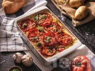 Приготвяне на рецепта Пирян - постно родопско ястие с картофи, ориз и домати